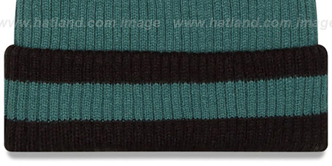 Eagles 'CHILLER FILLER BEANIE' Green-Black by New Era