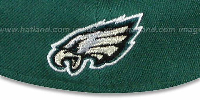 Eagles 'COIN TOSS FLEX' Green-Black Hat by New Era