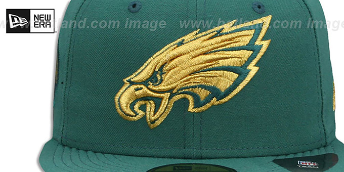Eagles 'FINEST SIDE-PATCH' Green Fitted Hat by New Era