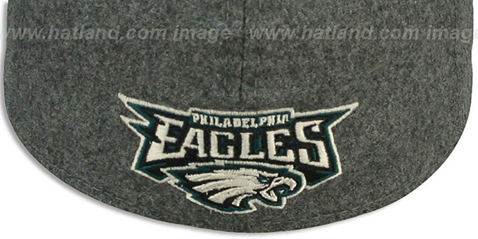 Eagles 'MELTOP FLEX' Grey-Green Hat by New Era
