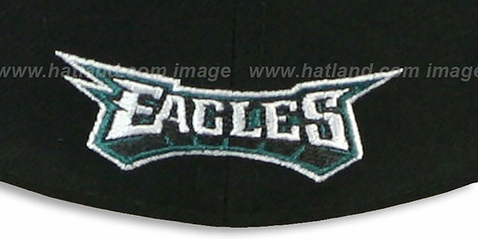 Eagles 'NFL 2T-TEAM-BASIC' Black-Green Fitted Hat by New Era