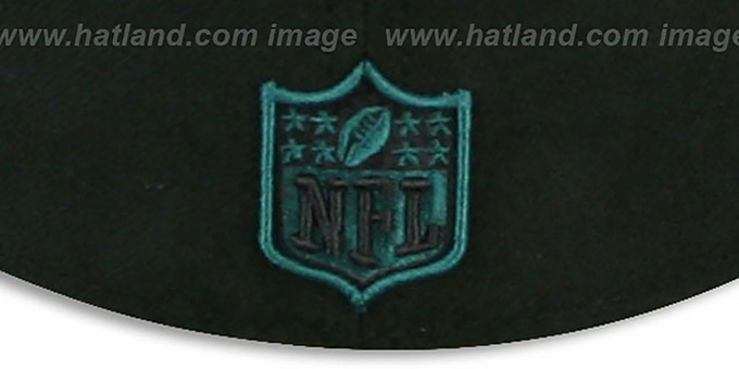 Eagles 'NFL JERSEY-BASIC' Black-Green Fitted Hat by New Era