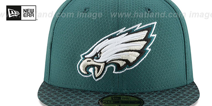 Eagles 'NFL SUPER BOWL LII ONFIELD' Green Fitted Hat by New Era