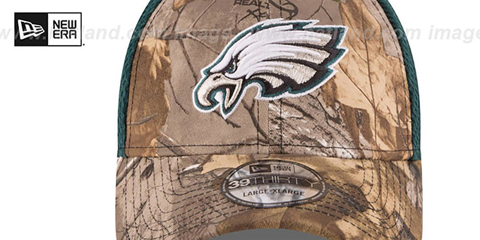 Eagles 'REALTREE NEO MESH-BACK' Flex Hat by New Era