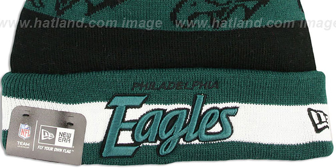Eagles 'REPEATER SCRIPT' Knit Beanie Hat by New Era