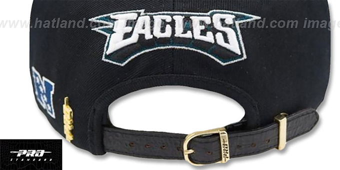 Eagles 'SCRIPT SUPER BOWL LII STRAPBACK' Black Hat by Pro Standard