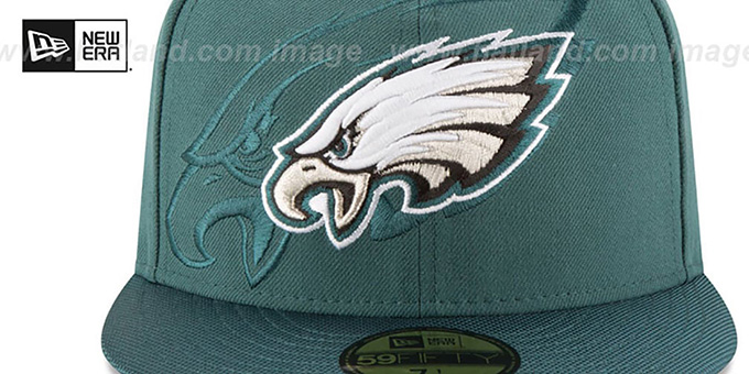 Eagles 'STADIUM SHADOW' Green Fitted Hat by New Era
