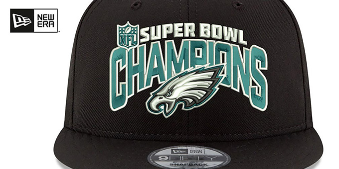 Eagles 'SUPER BOWL LII CHAMPS SNAPBACK' Black Hat by New Era