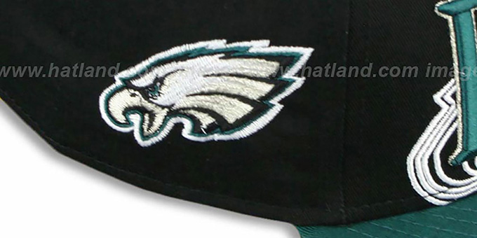Eagles 'THROUGH SNAPBACK' Black-Green Hat by New Era