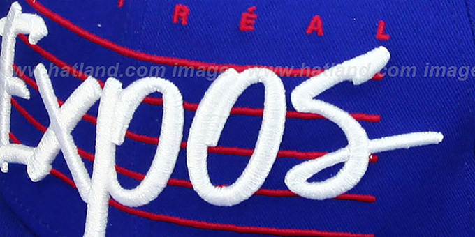 Expos COOP 'SCRIPTLINER SNAPBACK' Royal Adjustable Hat by New Era