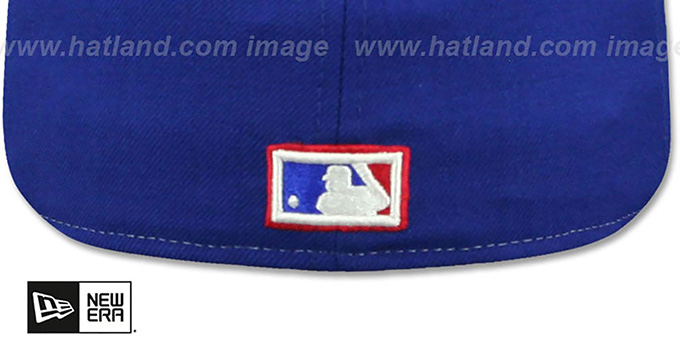 Expos 'VINTAGE-STRIPE' White-Royal Fitted Hat by New Era