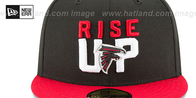 Falcons '2018 SPOTLIGHT' Black-Red Fitted Hat by New Era