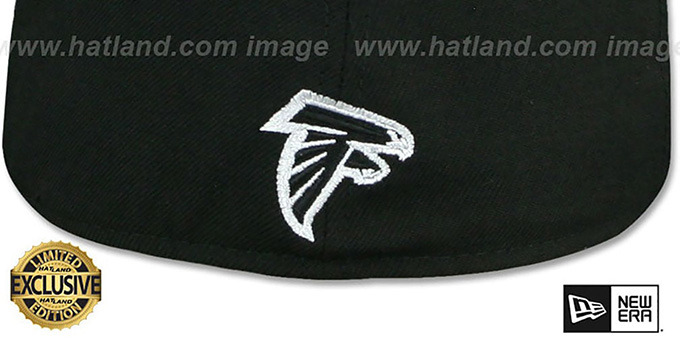 Falcons 'GOTHIC TEAM-BASIC' Black Fitted Hat by New Era