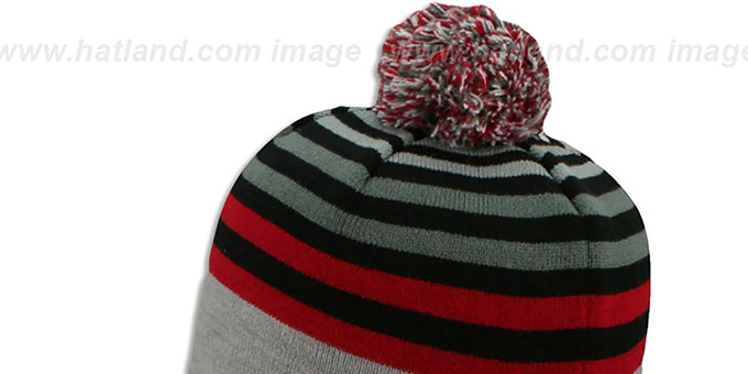 Falcons 'GREY STRIPETOP' Knit Beanie Hat by New Era