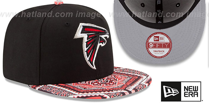 Falcons 'KALEIDOVIZE SNAPBACK' Black Hat by New Era