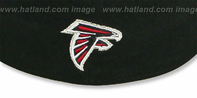 Falcons 'NFL 2T CHOP-BLOCK' Black-Red Fitted Hat by New Era