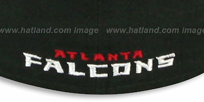 Falcons 'NFL 2T-TEAM-BASIC' Black-Red Fitted Hat by New Era