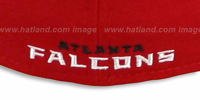 Falcons 'NFL 2T-TEAM-BASIC' Red-Black Fitted Hat by New Era
