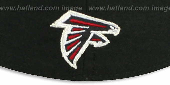 Falcons 'NFL FELTN' Black Fitted Hat by New Era
