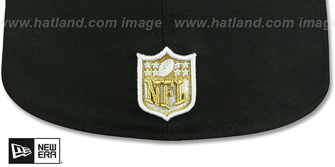 Falcons 'NFL TEAM-BASIC' Black-Gold Fitted Hat by New Era