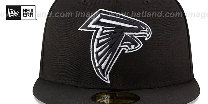 Falcons 'NFL TEAM-BASIC' Black-White Fitted Hat by New Era
