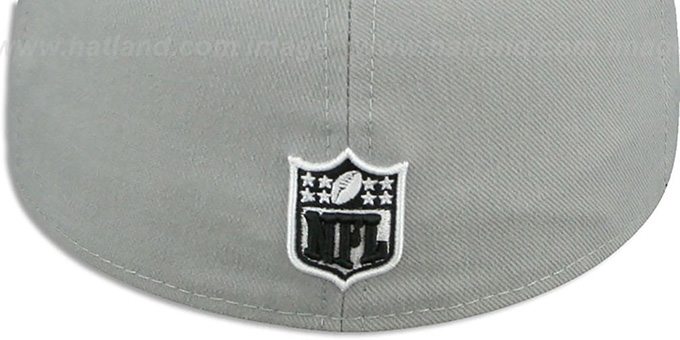 Falcons 'NFL TEAM-BASIC' Grey-Black-White Fitted Hat by New Era
