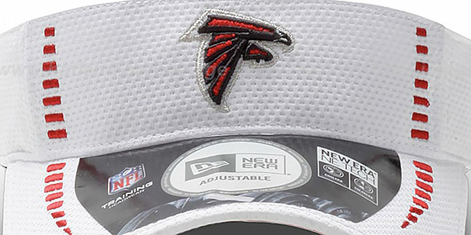 Falcons 'NFL TRAINING' White Visor by New Era