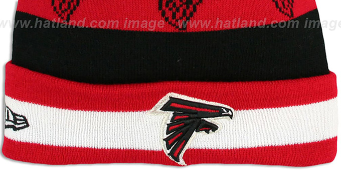 Falcons 'REPEATER SCRIPT' Knit Beanie Hat by New Era