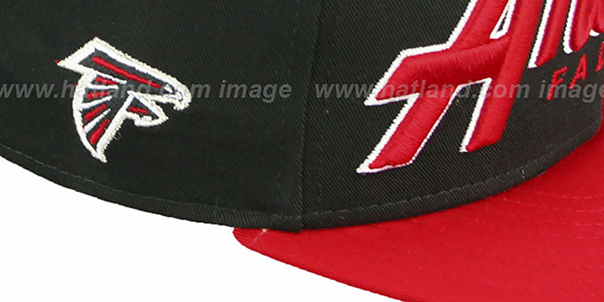 Falcons 'SNAP-IT-BACK SNAPBACK' Black-Red Hat by New Era