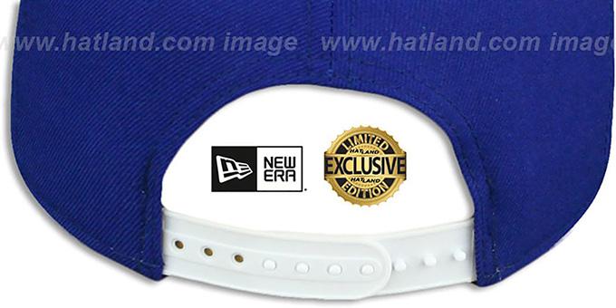 907681ec Atlanta Falcons TEAM-BASIC SNAPBACK Royal-White Hat by New Era