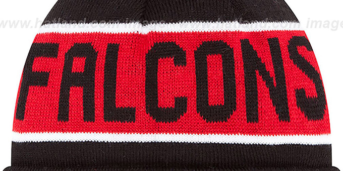 ... Falcons  THE-COACH THROWBACK  Black Knit Beanie Hat by New Era 23653cd54ef9