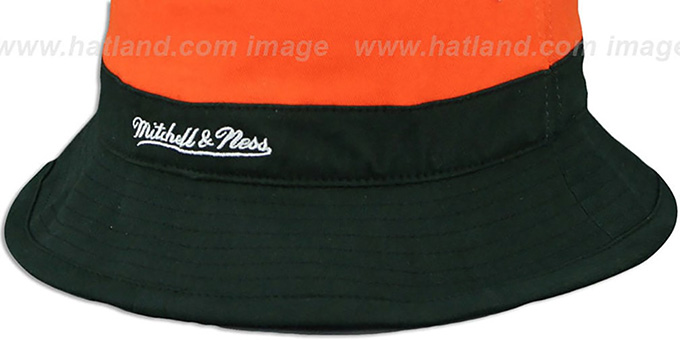 Bucket Hats Black And White White-orange-black Hat by