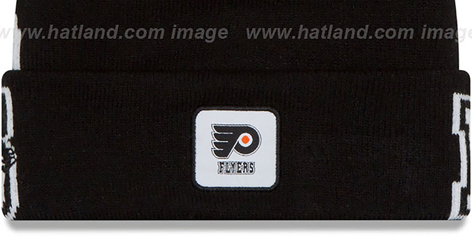 Flyers 'COLOSSAL-TEAM' Black Knit Beanie Hat by New Era