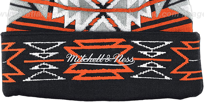 Flyers 'GEOTECH' Knit Beanie by Mitchell and Ness