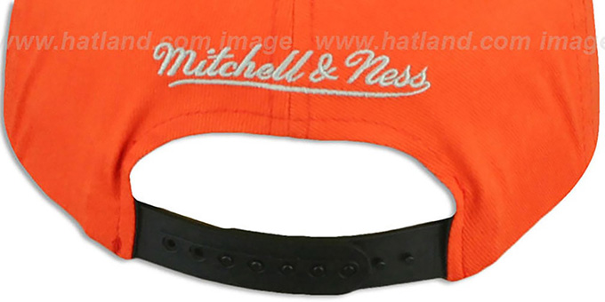 Flyers 'NATIVE-STRIPE SNAPBACK' Orange Hat by Mitchell & Ness