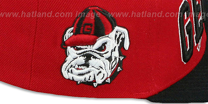 Georgia 'LACROSSE SUPER-ARCH SNAPBACK' Red-Black Hat by Zephyr