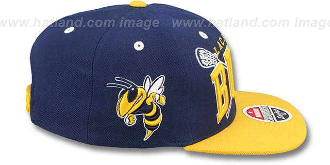 Georgia Tech 'LACROSSE SUPER-ARCH SNAPBACK' Navy-Gold Hat by Zephyr
