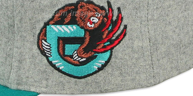Grizzlies '2T TAILSWEEPER STRAPBACK' Grey-Teal Hat by Mitchell & Ness