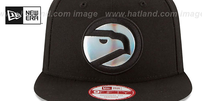 Hawks 'FOIL LOGO SNAPBACK' Black Hat by New Era