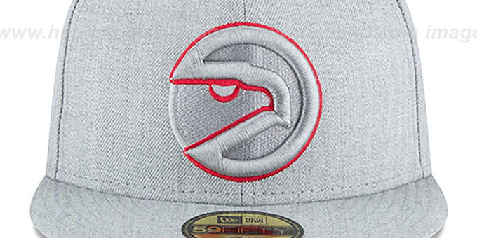 Hawks 'HEATHER TEAM-BASIC' Light Grey Fitted Hat by New Era