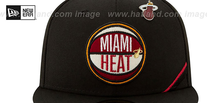 Heat '2019 NBA DRAFT' Black Fitted Hat by New Era