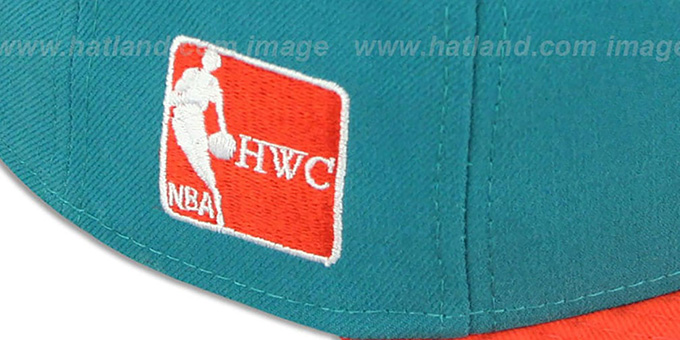 Heat '2T OPPOSITE-TEAM' Aqua-Orange Fitted Hat by New Era