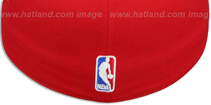 Heat 'AJD THROWBACK PINWHEEL' Black-Red Fitted Hat by Reebok