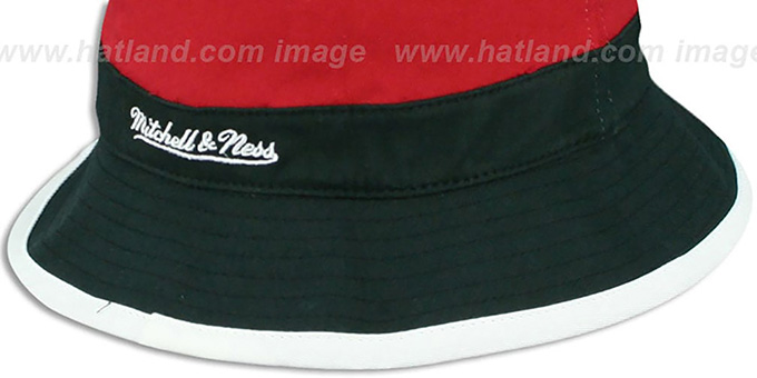 Heat 'COLOR-BLOCK BUCKET' Gold-Red-Black Hat by Mitchell and Ness