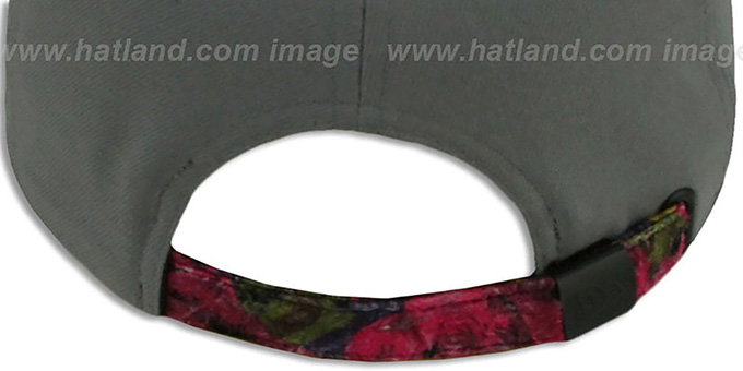 Heat 'FLORAL-FUR STRAPBACK' Grey-Pink Hat by New Era