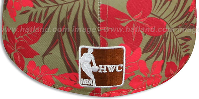 Heat 'FLORICAL' Khaki Fitted Hat by New Era