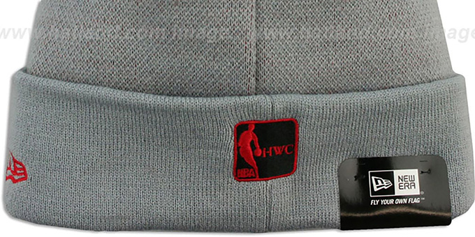 Heat 'HWC-BIGGIE' Grey Knit Beanie Hat by New Era