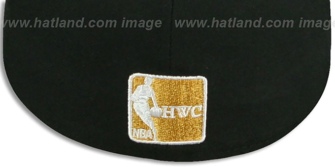 Heat 'METALLIC SLITHER' Black-Gold Fitted Hat by New Era