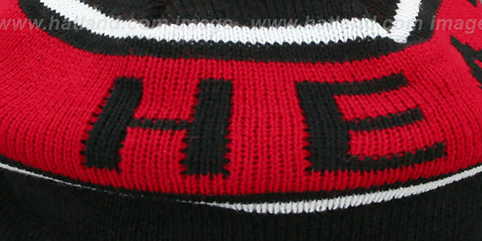 Heat 'RERUN KNIT BEANIE' by Mitchell and Ness