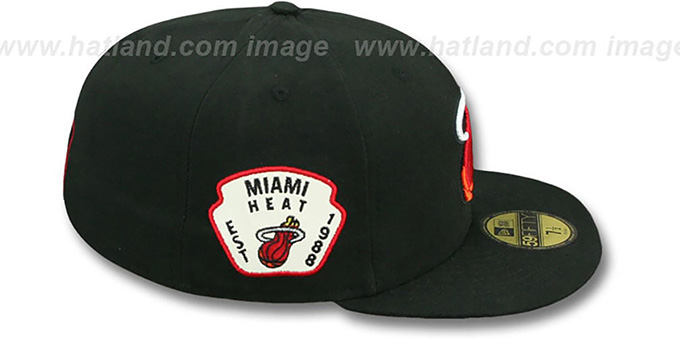 Heat 'SIDE TEAM-PATCH' Black Fitted Hat by New Era